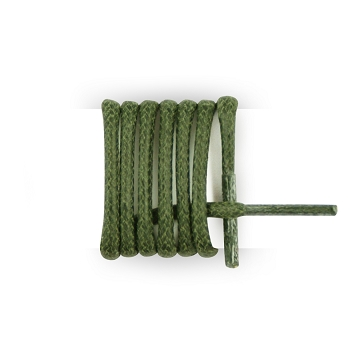 Round business shoes waxed cotton green army laces length 180 cm