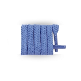 Flat blue shoelaces, thin cotton shoelaces length 70 cm
