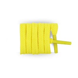Flat trainers yellow green cotton shoe laces length 55 cm