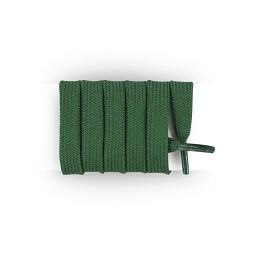 Football shoelaces for soccer shoes </br> Flat and wide polyester shoelaces </br> Dark green shoelaces lenght 130 cm