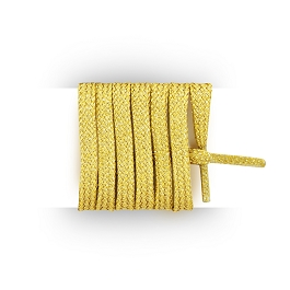 Flat trainers golden Lurex shoe laces length 40 cm