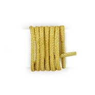 Pair of thin round shoelaces made of lurex gold shoelaces length 75 cm