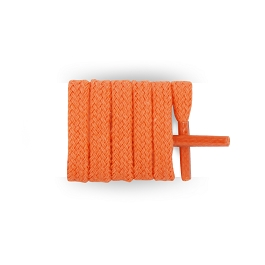 Flat trainers mandarine cotton shoe laces length 90 cm