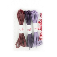 Lilac case round and thin laces 120 cm