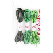 Organic case round and thin laces 45 cm