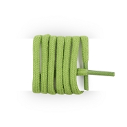 Round and thick cotton laces 90 cm green pastourelle