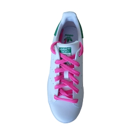 Sports shoes laces / flat sportswear neon pink synthetic shoe lace length 110 cm