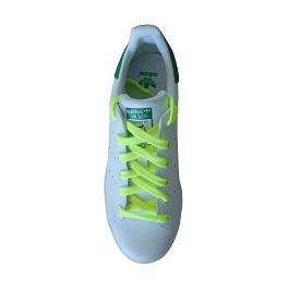 Sports shoes laces / flat sportswear neon yellow synthetic shoe lace length 110 cm