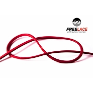 Silicone laces running and trail 110 cm red