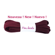 Sport shoes laces red burgundy flat shoes cotton lace length 90 cm