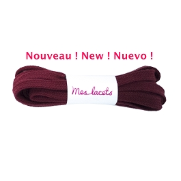 Sport shoes laces red burgundy flat shoes cotton lace length 150 cm