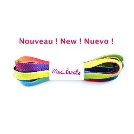 Sport shoes laces rainbow flat shoes cotton lace length 180 cm