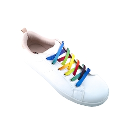 Sport shoes laces rainbow flat shoes cotton lace length 150 cm