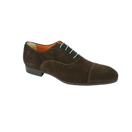 Round business shoes waxed cotton turquoise laces length 90 cm
