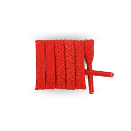 Flat red shoelaces, cotton shoelaces length 120 cm