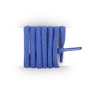 Shoelaces round and thick cotton 90 cm dark blue