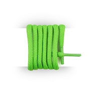 Shoes laces round neon green and thick cotton 90 cm