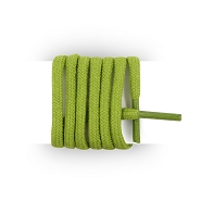 Round and thick cotton laces 90 cm green bamboo