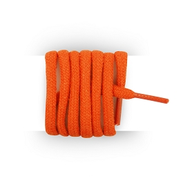 Shoes laces round and thick cotton 110 cm orange