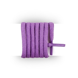 Shoes laces round and thick cotton 110 cm lavender
