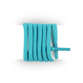 Shoes laces round and thick cotton 125 cm turquoise