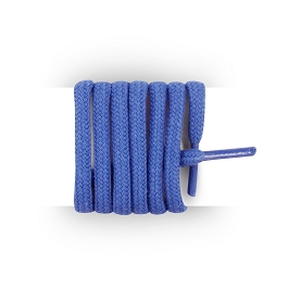 Shoes laces round and thick cotton 125 cm blue azure