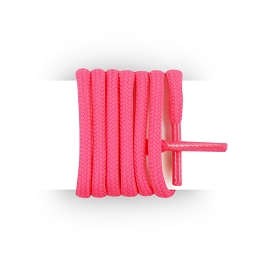 Shoes laces round and thick cotton 125 cm neon pink