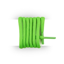 Shoes laces round and thick cotton 125 cm neon green