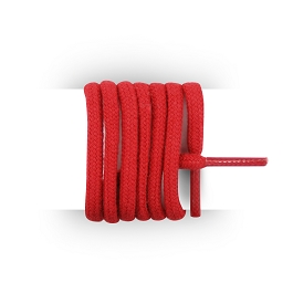 Shoes laces round and thick cotton 180 cm red