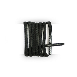 Black boot laces, black waxed laces for shoes, cotton black laces length 180 cm