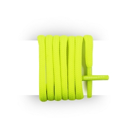 Shoelaces round and thick cotton 180 cm neon yellow